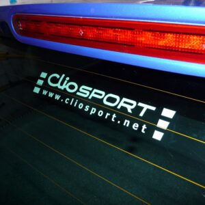 ClioSport Logo Sticker (WHITE)
