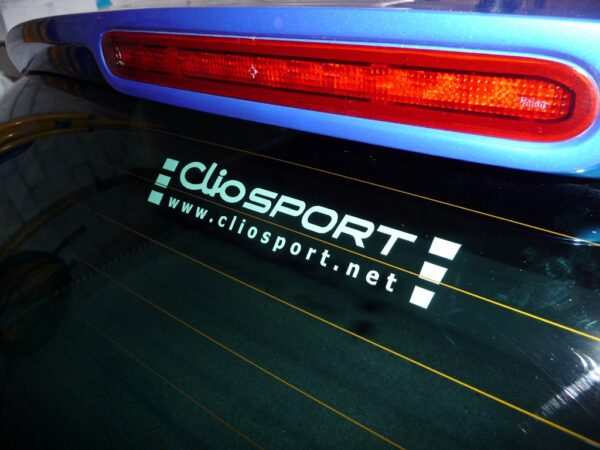 ClioSport Logo Sticker (WHITE)