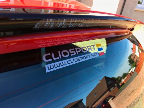 NEW Cliosport Logo Sticker (FULL COLOUR)