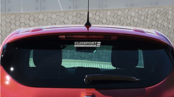 NEW ClioSport Logo Sticker (WHITE)